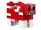 Part No: minecow02  Name: Minecraft Cow, Mooshroom - Brick Built