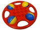 Part No: x1718c01  Name: Duplo Rattle Circular with Yellow/Blue Wheels