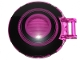 Part No: 18675pb17  Name: Dish 6 x 6 Inverted - No Studs with Handle with Black Concentric Circles Pattern