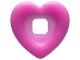 Part No: clikits080  Name: Clikits, Icon Accent Plastic Heart 3 3/8 x 3 3/8 with Raised Border