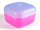 Part No: clikits114c05  Name: Clikits Container, Square Box with Hole with Trans-Medium Blue Lid (clikits114 / clikits115)