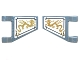 Part No: 44676pb021  Name: Flag 2 x 2 Trapezoid with Gold Dragons (Angled Orientation) Pattern on Both Sides (Stickers) - Set 70734