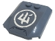 Part No: 45677pb140  Name: Wedge 4 x 4 x 2/3 Triple Curved with White Ninjago Logogram 'Ice' in Circle Pattern (Sticker) - Set 71738