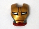 Part No: 10908pb05  Name: Minifigure, Visor Top Hinge with Gold Face Shield, Silver Sides, Black Lines on Forehead and White Eyes Pattern