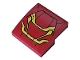 Part No: 15068pb183  Name: Slope, Curved 2 x 2 with Dark Red and Gold Armor Pattern (Sticker) - Set 76104
