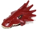 Part No: 18153pb01  Name: Dragon Head (LotR) Upper Jaw with Spikes with Tan Teeth and Orange Eyes Pattern