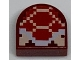 Part No: 24246pb005  Name: Tile, Round 1 x 1 Half Circle Extended (Stadium) with Pixelated Koopa Troopa Pattern