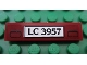 Part No: 2431pb169  Name: Tile 1 x 4 with 'LC 3957' License Plate Pattern (Sticker) - Set 7325