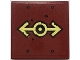 Part No: 3068bpb1707  Name: Tile 2 x 2 with Groove with Gold Train Logo with Black Outline, Rivets Pattern (Sticker) - Set 70424