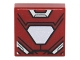 Part No: 3070bpb094  Name: Tile 1 x 1 with Groove with Iron Man Armor and White Hexagonal Reactor Pattern
