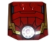 Part No: 45677pb093  Name: Wedge 4 x 4 x 2/3 Triple Curved with Iron Man Armor and Round Arc Reactor Pattern
