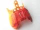 Part No: 57559pb04  Name: Bionicle Barraki Carapar Chest Cover, Marbled Bright Light Orange Pattern