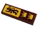 Part No: 63864pb165  Name: Tile 1 x 3 with Gryffindor Banner with Lion and Crowns Pattern (Sticker) - Set 76382