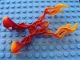 Part No: 64265pb01  Name: Bionicle Weapon Fire Claw with Marbled Trans-Orange Pattern