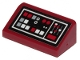 Part No: 85984pb249  Name: Slope 30 1 x 2 x 2/3 with Dark Red, Light Bluish Gray and White Buttons Pattern (Sticker) - Set 75216