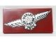 Part No: 87079pb0650L  Name: Tile 2 x 4 with Silver Harley-Davidson Logo Pattern Model Left Side