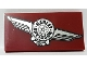 Part No: 87079pb0650R  Name: Tile 2 x 4 with Silver Harley-Davidson Logo Pattern Model Right Side