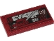 Part No: 87079pb0778  Name: Tile 2 x 4 with Silver Tractor Engine, Dark Red Metal Cover and Spider Web Pattern (Sticker) - Set 40423