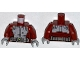 Part No: 973pb1414c01  Name: Torso Spider-Man Body Armor with Silver Belt Pattern / Dark Red Arms / Light Bluish Gray Hands
