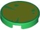Part No: 14769pb455  Name: Tile, Round 2 x 2 with Bottom Stud Holder with Lime Lily Pad Pattern