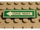 Part No: 2431pb029  Name: Tile 1 x 4 with Green 'ONE WAY' on White Arrow Pattern (Sticker) - Sets 4850 / 4853