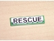 Part No: 2431pb055  Name: Tile 1 x 4 with Black 'RESCUE' on White Background Pattern (Sticker) - Set 8255