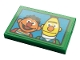 Part No: 26603pb122  Name: Tile 2 x 3 with Ernie and Bert on Blue Background Pattern (Sticker) - Set 21324