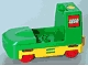 Part No: 2961  Name: Duplo, Train Passenger Locomotive Base with Yellow Battery Compartment, Red Wheels