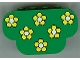 Part No: 30075pb01  Name: Slope, Curved 6 x 2 x 3 Triple with Eight Studs with Yellow Flowers Pattern