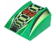 Part No: 30602pb007  Name: Slope, Curved 2 x 2 Lip with '89', Lime/Black/White Stripes Pattern
