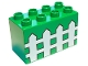 Part No: 31111pb003  Name: Duplo, Brick 2 x 4 x 2 with Fence Pattern