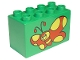 Part No: 31111pb006  Name: Duplo, Brick 2 x 4 x 2 with Red Butterfly with Yellow Spots Pattern