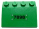 Part No: 3297pb022  Name: Slope 33 3 x 4 with Black '7898' and Rivets Pattern (Sticker) - Set 7898