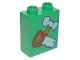 Part No: 4066pb129  Name: Duplo, Brick 1 x 2 x 2 with Hammer and Saw Pattern