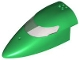 Part No: 54092c01  Name: Aircraft Fuselage Forward Top Curved 8 x 16 x 5 with Trans-Black Glass