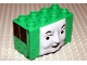 Part No: 54569pb01  Name: Duplo, Brick 2 x 4 x 2 Molded Face with Cranky Pattern