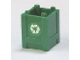 Part No: 61780pb001  Name: Container, Box 2 x 2 x 2 - Top Opening with Recycling Arrows Pattern on Opposite Sides (Stickers) - Set 7642