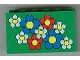 Part No: 6213pb01  Name: Brick 2 x 6 x 3 with Red, White, Blue Flowers Pattern