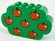 Part No: 6214px2  Name: Slope, Curved 8 x 2 x 4 Triple with Eight Studs with 7 Apples Pattern