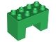 Part No: 6394  Name: Duplo, Brick 2 x 4 x 2 with 2 x 2 Cutout on Bottom