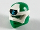 Part No: 65072pb02  Name: Minifigure, Headgear Ninjago Wrap Type 6 with White Mask, Medium Azure L Symbol on Black Pattern