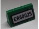 Part No: 85984pb031  Name: Slope 30 1 x 2 x 2/3 with 'ER60025' Pattern (Sticker) - Set 60025