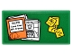 Part No: 87079pb0267  Name: Tile 2 x 4 with Orange Case File with 'GCPD Case Files MR. Freeze', Mugshot and Yellow Notes Pattern (Sticker) - Set 76052