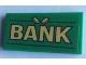 Part No: 87079pb0839  Name: Tile 2 x 4 with 'BANK' Pattern (Sticker) - Set 60140