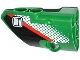 Part No: 87080pb009  Name: Technic, Panel Fairing # 1 Small Smooth Short, Side A with Door Handle, Red Stripe and White Dot Fade Pattern (Sticker) - Set 42008