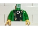 Part No: 973pb0129c01  Name: Torso Harry Potter McGonagall Green and Gold Trim Pattern / Green Arms / Yellow Hands