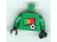 Part No: 973pb0783c01  Name: Torso Soccer Portuguese Goalie, Portuguese Flag Sticker Front, White Number Sticker Back (specify number in listing)  / Green Arms / Black Hands