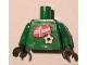 Part No: 973pb0827c01  Name: Torso Soccer Norwegian Goalie, Norwegian Flag Sticker Front, White Number Sticker Back (specify number in listing) / Green Arms / Black Hands
