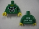 Part No: 973pb0867c01  Name: Torso Bat Wings and Crossbones Front, 2011 The LEGO Store Beachwood, OH Back Pattern / Green Arms / Yellow Hands