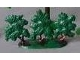 Part No: FTBush1  Name: Plant, Tree Flat Bush painted with solid base (1950's version)